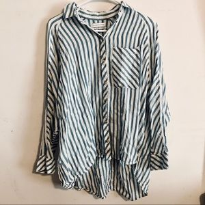 Urban outfitters striped oversized button down